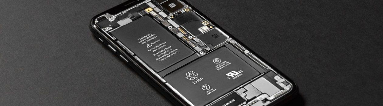 Opened smartphone